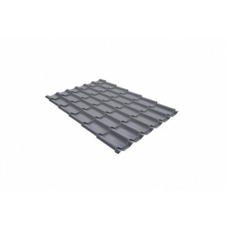 Металлочерепица Монтеррей 0,45 Polyester RAL 7004 Сигнальный серый - фото