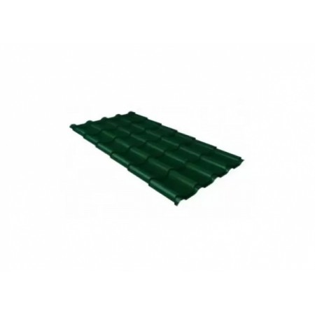 Металлочерепица Камея 0,5 Satin RAL 6005 Зеленый мох - фото #1