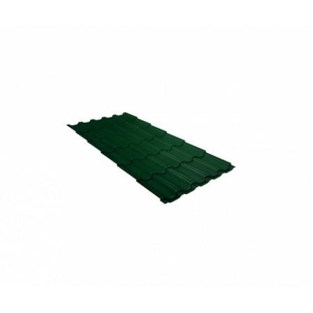 Металлочерепица Квинта плюс 0,45 Polyester RAL 6005 Зеленый мох - фото