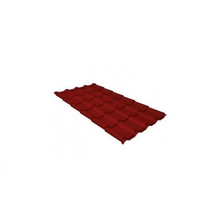 Металлочерепица Камея 0,45 Polyester RAL 3011 Коричнево-красный - фото #1