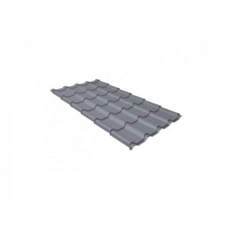 Металлочерепица Камея 0,45 Polyester RAL 9006 Бело-алюминиевый - фото