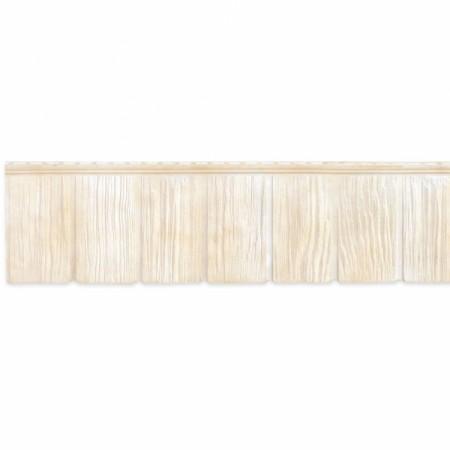 Фасадная (цокольная) панель Grand Line Сибирская дранка Слоновая кость - фото