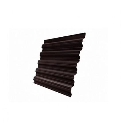 Профнастил HC35R GreenCoat Pural RR 887 Шоколадно-коричневый RAL 8017 Шоколад - фото