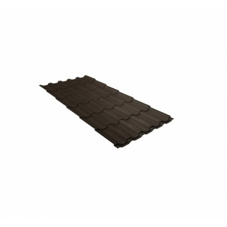 Металлочерепица Квинта плюс 0,5 Стальной бархат RR 32 Темно-коричневый - фото #1