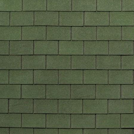 Гибкая черепица Tegola Классик Зеленый с отливом - фото #1