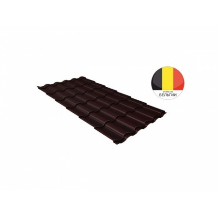 Металлочерепица Кредо 0,5 Quarzit lite RAL 8017 Шоколад - фото #1