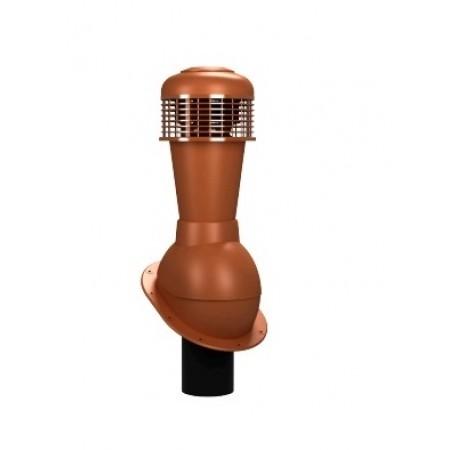 К-43 Вентиляционный выход НЕИЗОЛИРОВАННЫЙ (неутепленный) с электрическим вентилятором 305 куб.м./час D 110 мм Н 500 мм - фото #1