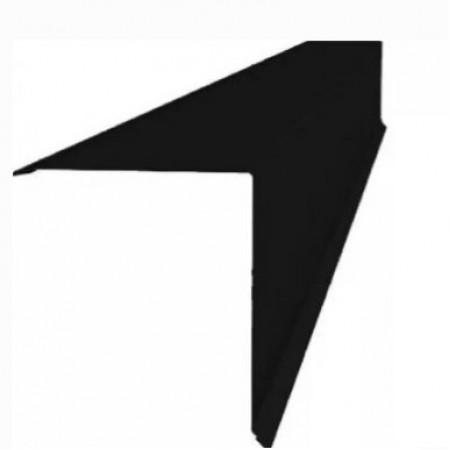 Планка конька односкатной кровли 160x160 Grand Line 0,5 Стальной Бархат - фото #1