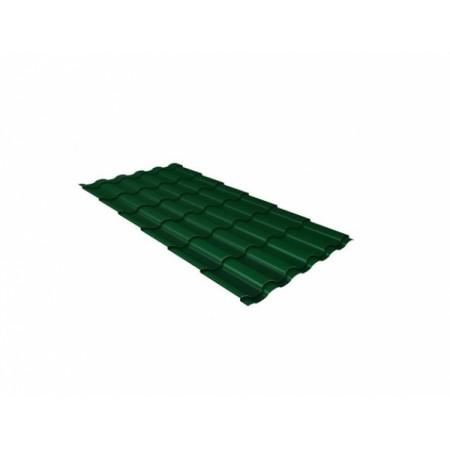 Металлочерепица Камея 0,45 Drap RAL 6005 Зеленый мох - фото