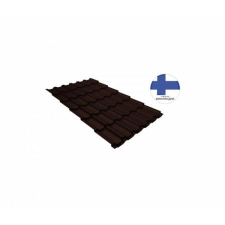 Металлочерепица Квинта плюс 0,5 GreenCoat Pural RR 887 Шоколадно-коричневый RAL 8017 Шоколад - фото #1