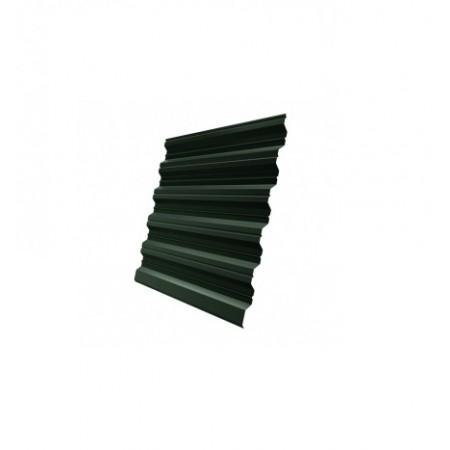 Профнастил HC35R 0,5 GreenCoat Pural RR 11 Темно-зеленый RAL 6020 Хромовая зелень - фото