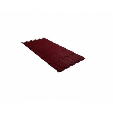 Металлочерепица Квинта плюс 0,45 Polyester RAL 3005 Красное вино - фото