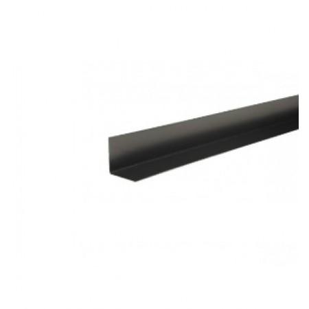 Уголок металлический внутренний Hauberk Темно-серый ПЭ - фото