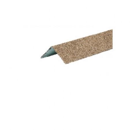 Уголок металлический внешний Hauberk Песчаный - фото