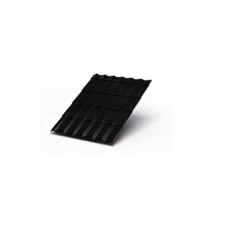 Металлочерепица МП Макси VikingMP 0,45 9005 Викинг МП - фото