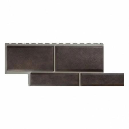 Фасадная (цокольная) панель Альта Профиль Флорентийский камень Коричневый - фото #1
