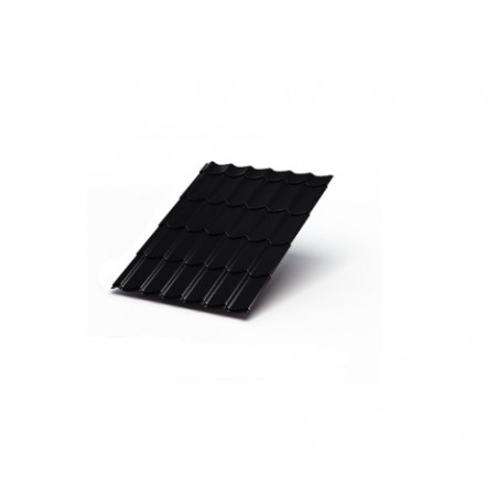 Металлочерепица МП Макси PURMAN 0,5 9005 Пурман - фото #1