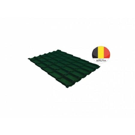 Металлочерепица Классик 0,5 Atlas RAL 6005 Зеленый мох - фото #1