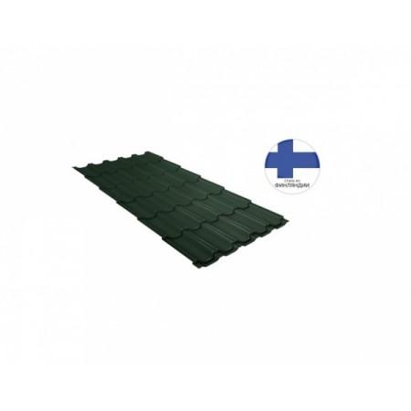 Металлочерепица Квинта плюс 0,5 GreenCoat Pural Matt RR 11 Темно-зеленый RAL 6020 Хромовая зелень - фото #1