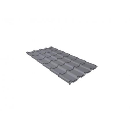 Металлочерепица Камея 0,45 Polyester RAL 7005 Мышино-серый - фото #1