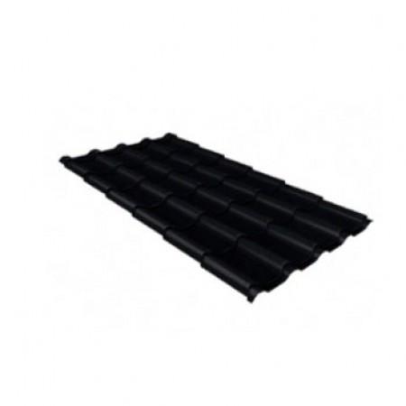Металлочерепица Камея 0,5 PurLite Matt RAL 9005 Черный - фото #1