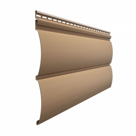 Сайдинг Docke Premium D4,7Т (Блок-хаус) Капучино - фото