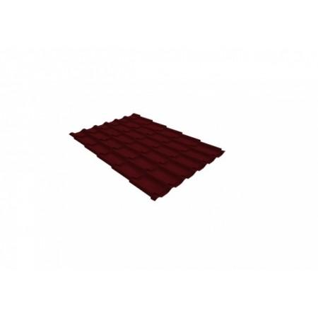 Металлочерепица Классик 0,5 Satin RAL 3005 Красное вино - фото
