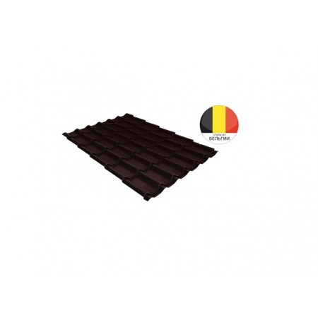 Металлочерепица Классик 0,5 Quarzit lite RAL 8017 Шоколад - фото #1