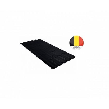 Металлочерепица Квинта плюс 0,5 Quarzit lite RAL 9005 Черный - фото #1