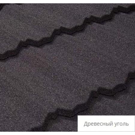 Лист композитной черепицы Tilcor Classic Древесный уголь - фото #1