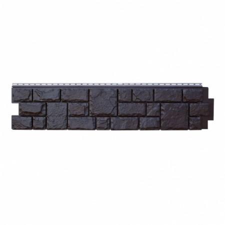 Фасадная (цокольная) панель Grand Line Екатерининский камень Уголь (АСА) - фото