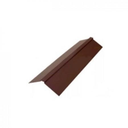 Планка конька плоского 190х190х2000 МеталлПрофиль CLOUDY - фото #1