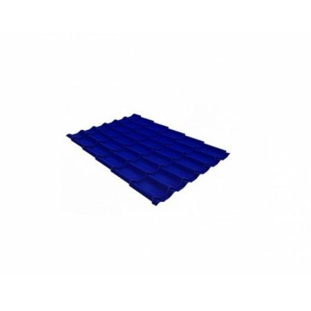 Металлочерепица Квинта плюс 0,45 Polyester RAL 5002 Ультрамариново-синий - фото