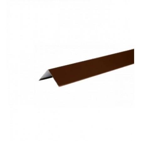 Уголок металлический внешний Hauberk Коричневый ПЭ - фото #1