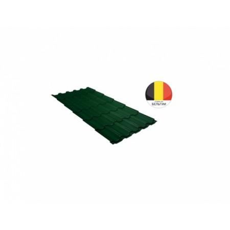 Металлочерепица Квинта плюс 0,5 Atlas RAL 6005 Зеленый мох - фото #1