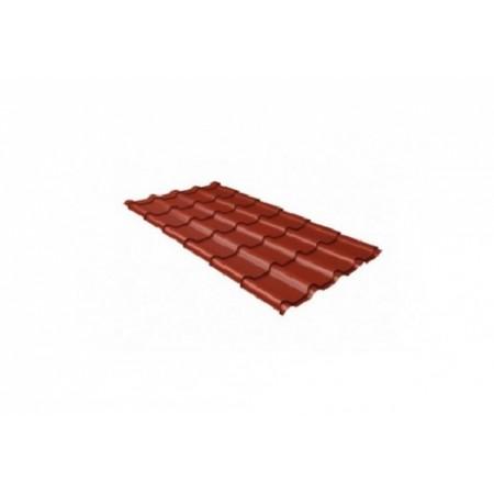 Металлочерепица Камея 0,45 Polyester RAL 3009 Оксидно-красный - фото