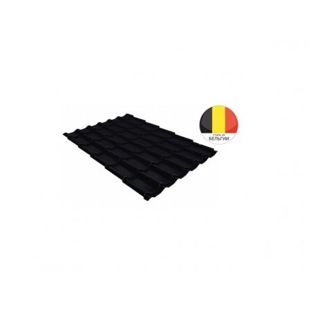 Металлочерепица Классик 0,5 Quarzit lite RAL 9005 Черный - фото #1