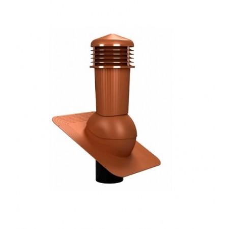 К-80 Вентиляционный выход НЕИЗОЛИРОВАННЫЙ (неутепленный) D 125 мм Н 500 мм (съемный колпак) - фото
