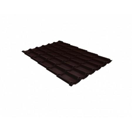 Металлочерепица Монтеррей 0,45 Polyester RAL 8017 Шоколад - фото