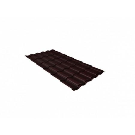 Металлочерепица Кредо 0,45 Polyester RAL 8017 Шоколад - фото