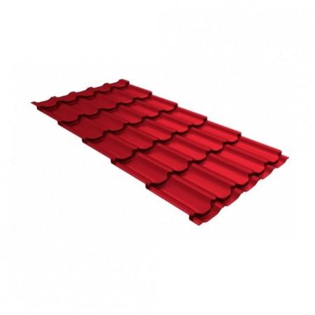 Металлочерепица Квинта плюс 0,45 Polyester RAL 3030 Рубиново-красный - фото