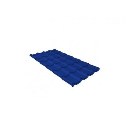 Металлочерепица Камея 0,45 Polyester RAL 5002 Ультрамариново-синий - фото #1