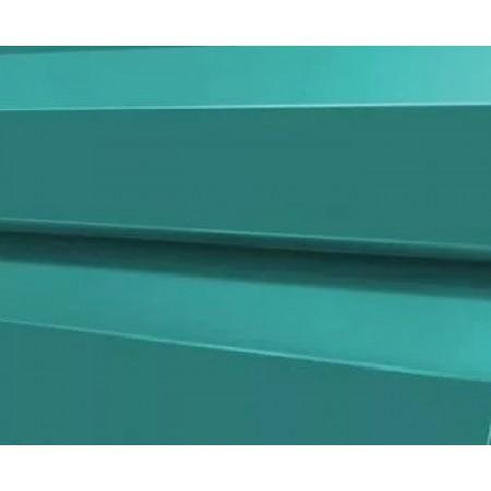 Металлический сайдинг МП 14х226 ПРМ Голубой металлик - фото #1
