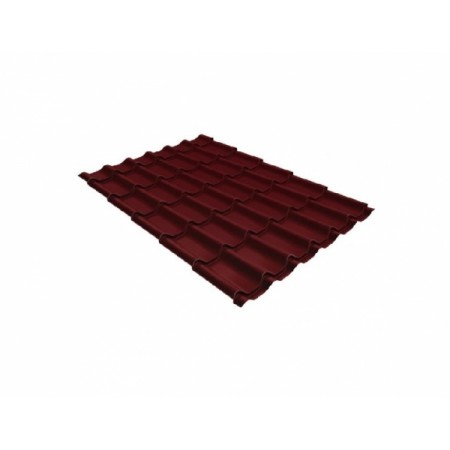 Металлочерепица Монтеррей 0,45 Polyester RAL 3005 Красное вино - фото