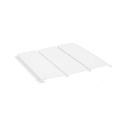 Софит алюминиевый без перфорации Polyester Белый RR20 - фото