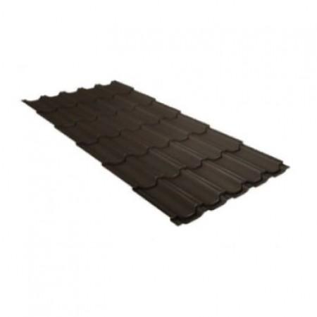 Металлочерепица Квинта плюс 0,5 Satin Matt RR 32 Темно-коричневый - фото #1