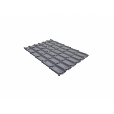 Металлочерепица Кредо 0,5 Satin RAL 7004 Сигнальный серый - фото #1