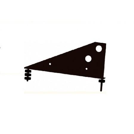 Кронштейн снегозадержателя универсальный Optima RAL 8019 - фото