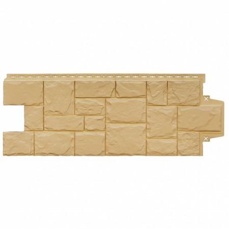 """Фасадная (цокольная) панель Grand Line """"Крупный камень"""" стандарт Песочный - фото"""