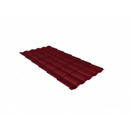 Металлочерепица Кредо 0,45 Polyester RAL 3005 Красное вино - фото